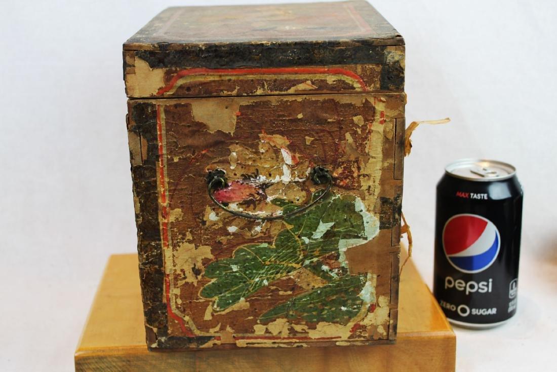 Antique Chinese Storage Box w/Bronze lock - 8