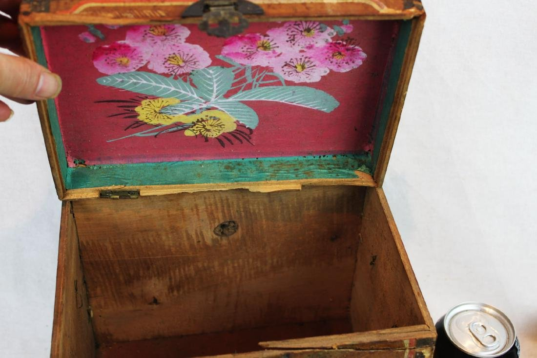 Antique Chinese Storage Box w/Bronze lock - 9