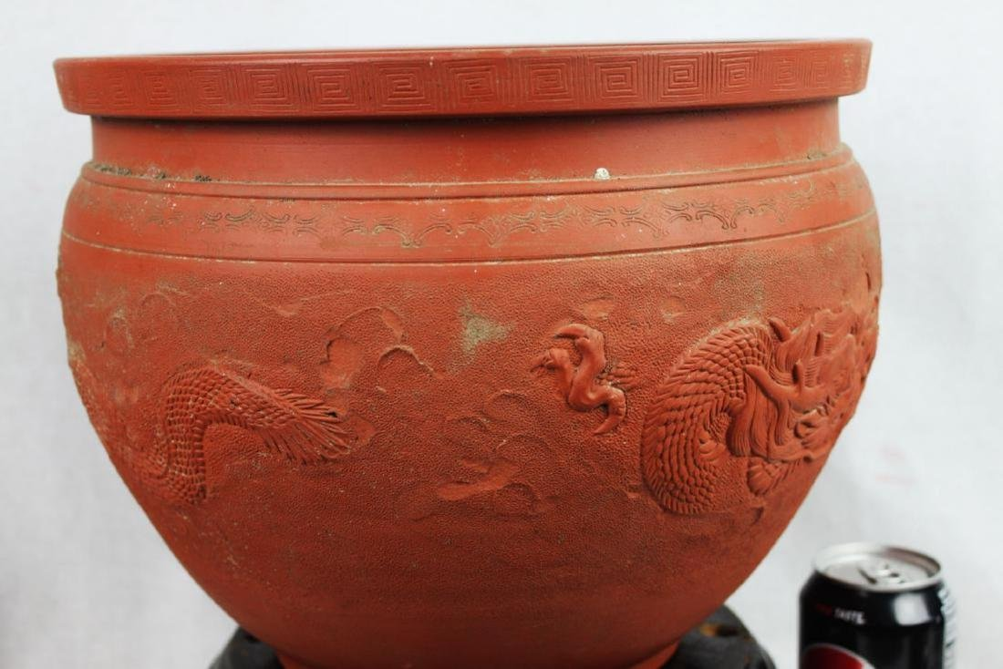 Chinese Zisha Planter with Dragon Pattern - 5