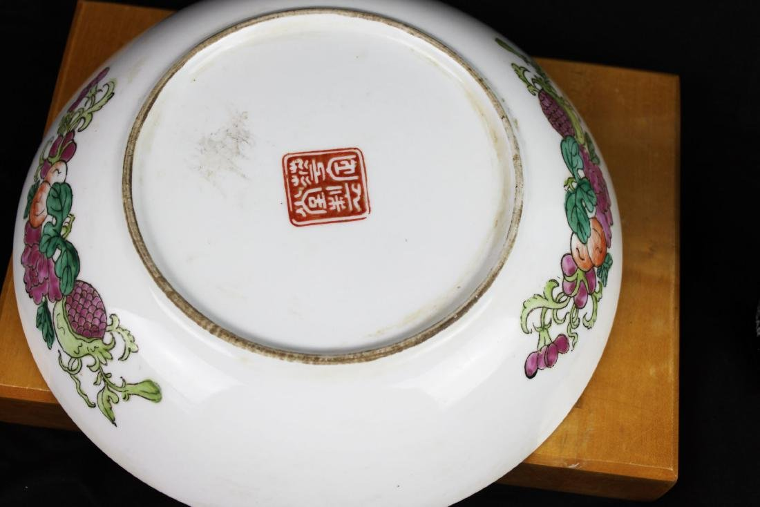 Antique Chinese Wucai Porcelain Plate 1800s - 10