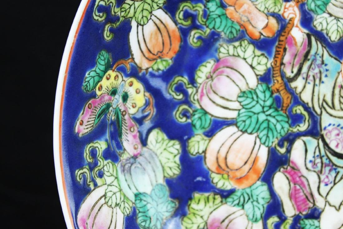 Antique Chinese Wucai Porcelain Plate 1800s - 3