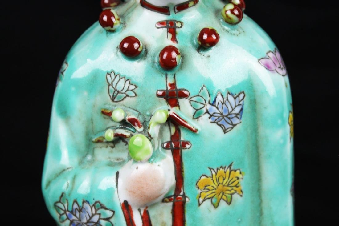 Antique Chinese Porcelain Statue - 3