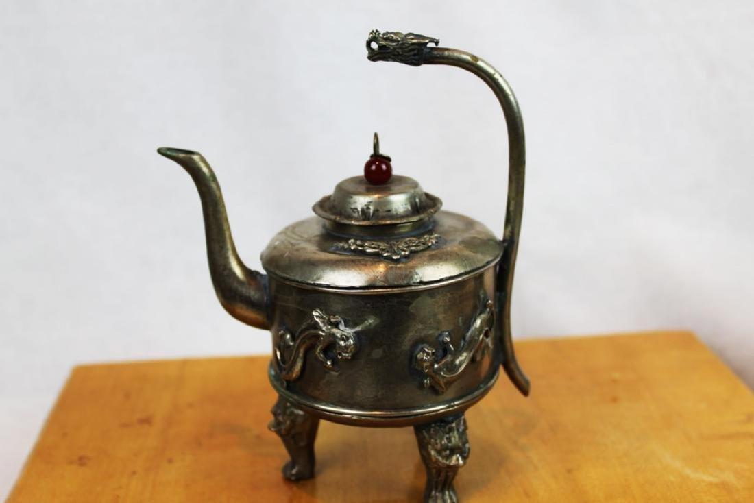 Antique Asian Bronze Teapot