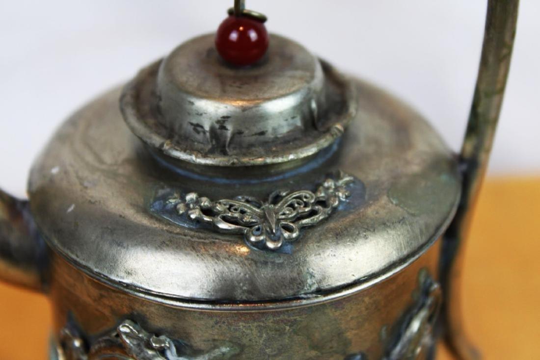 Antique Asian Bronze Teapot - 4