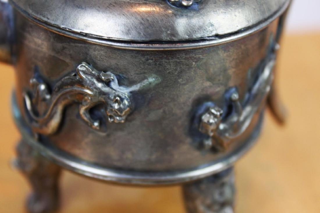 Antique Asian Bronze Teapot - 5