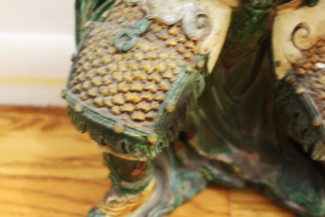 A Pair Antique Chinese Tang San Cai Statue - 6