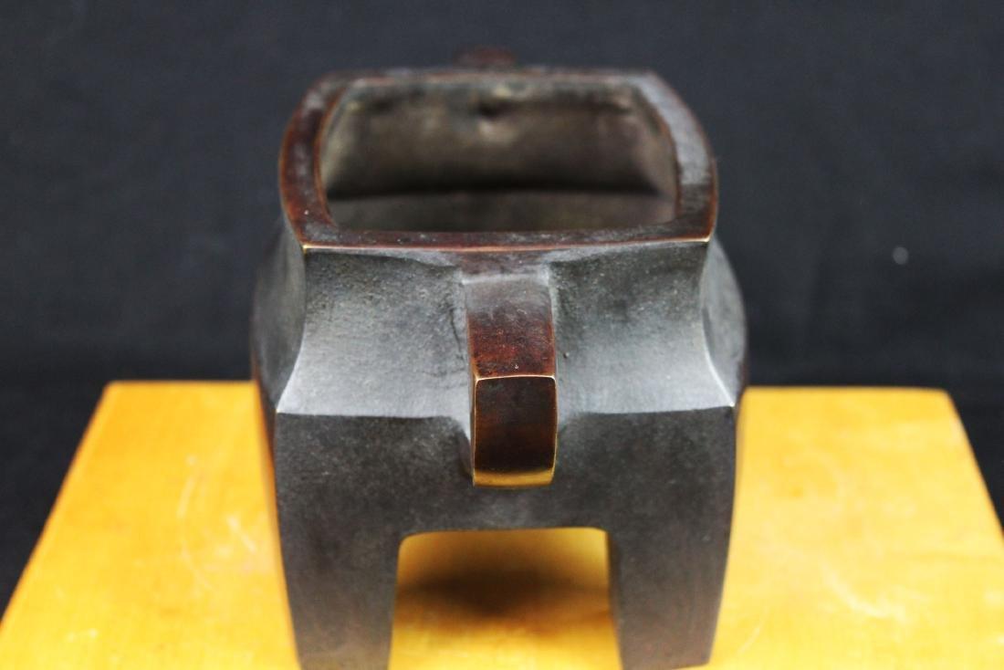 Antique Chinese Bronze Sensor - 5