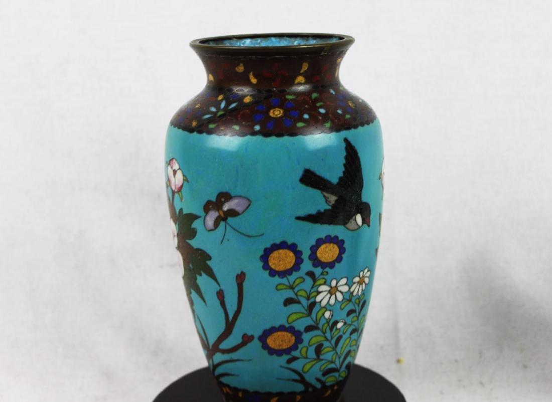 Antique Chinese Cloisonne Vase - 10