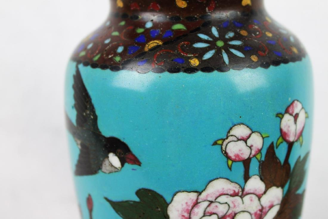 Antique Chinese Cloisonne Vase - 3