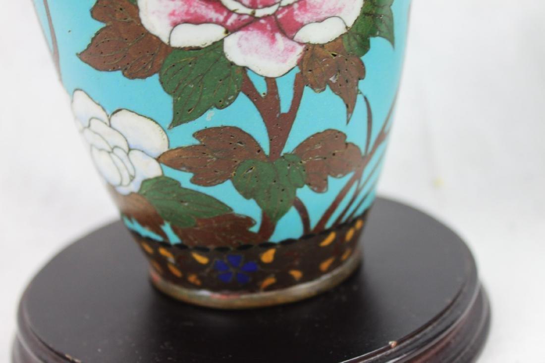 Antique Chinese Cloisonne Vase - 5