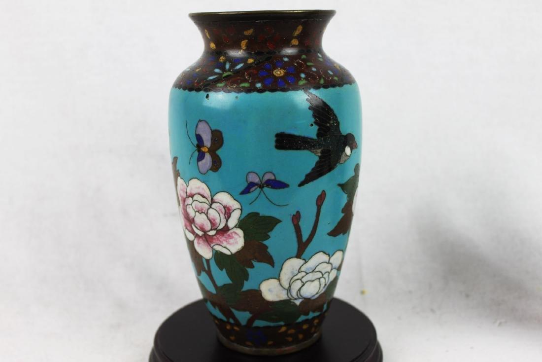 Antique Chinese Cloisonne Vase - 6