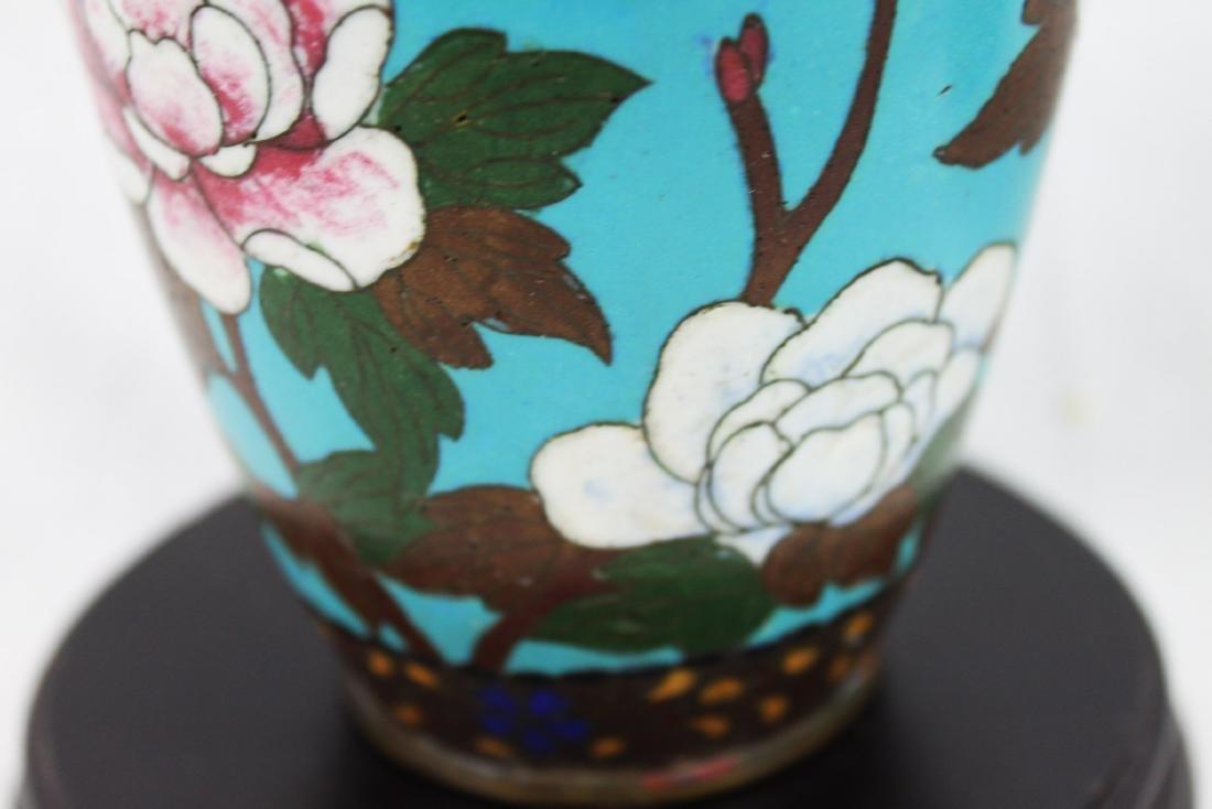 Antique Chinese Cloisonne Vase - 7