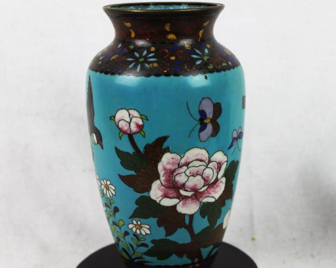 Antique Chinese Cloisonne Vase - 8