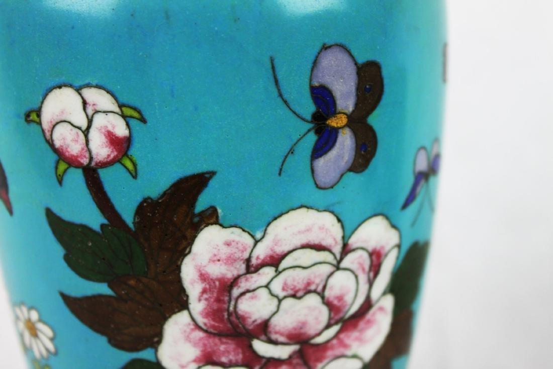 Antique Chinese Cloisonne Vase - 9
