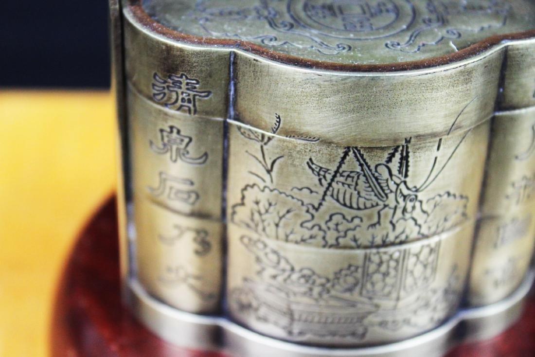 Antique Chinese White Bronze Tri-bucket - 3