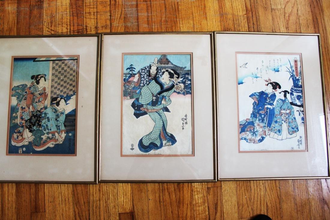 Three Japanese Woodblack Painting