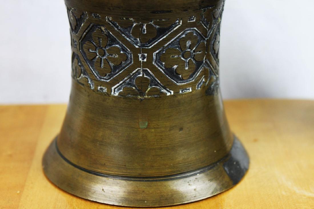 Antique Bronze Vase with Cloisonne around - 4