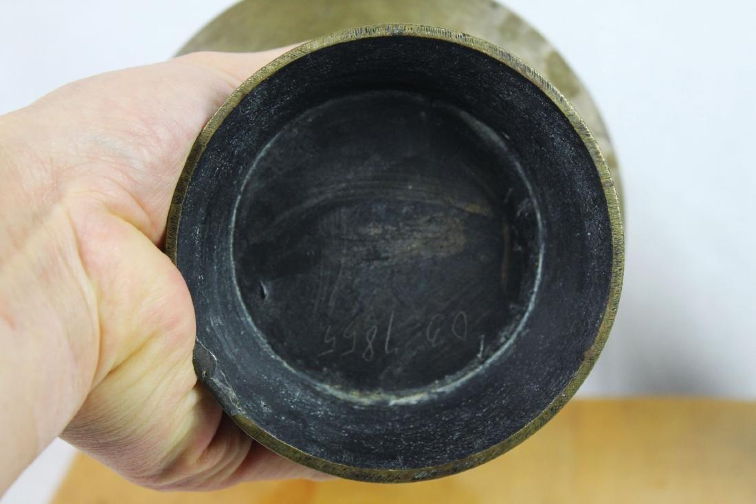 Antique Bronze Vase with Cloisonne around - 9