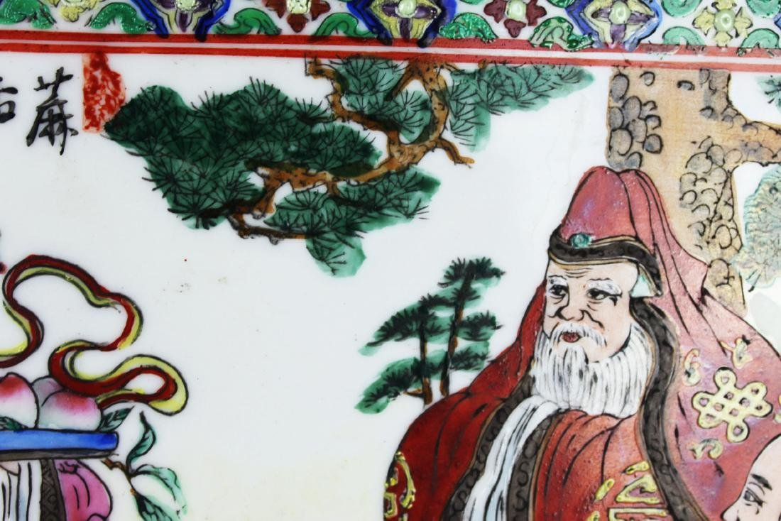 A Pair Antique Chinese Porcelain Painting panels - 8