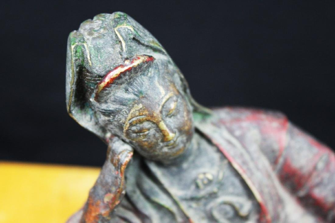 Antique Chinese Bronze Guanyin Statue - 2