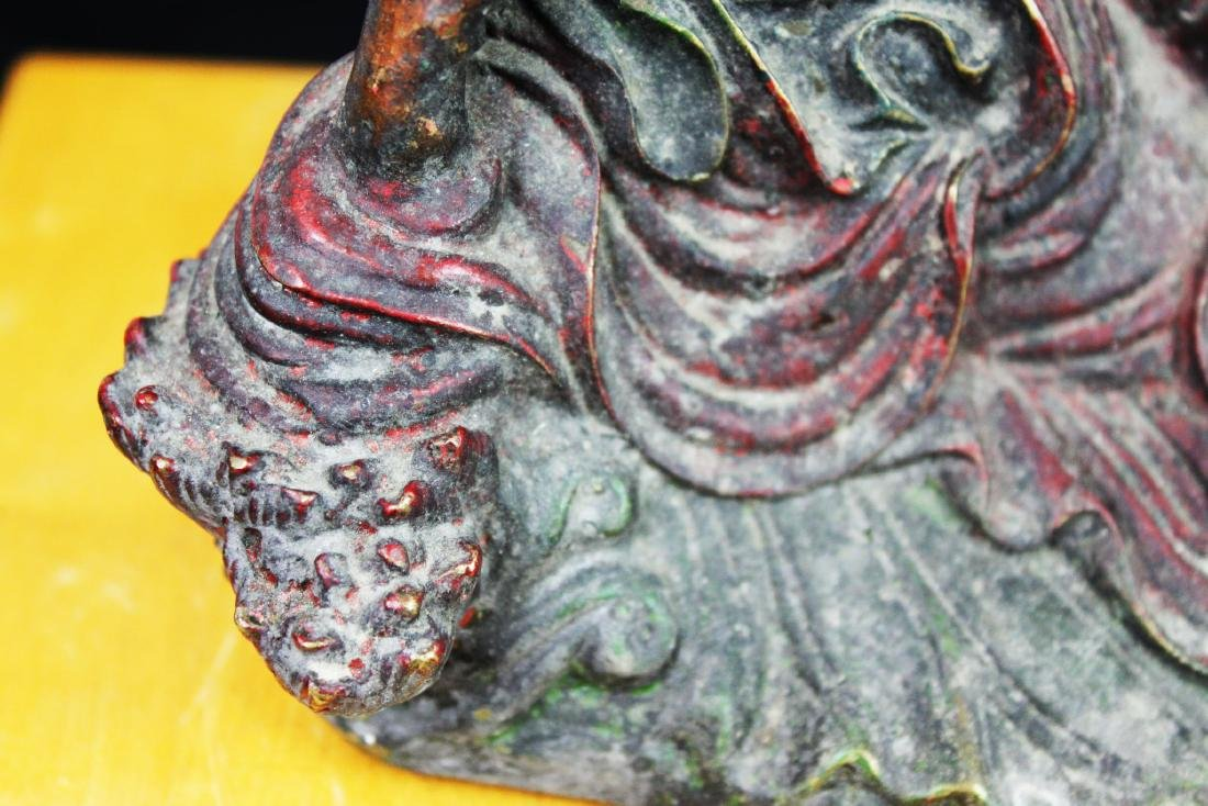 Antique Chinese Bronze Guanyin Statue - 3