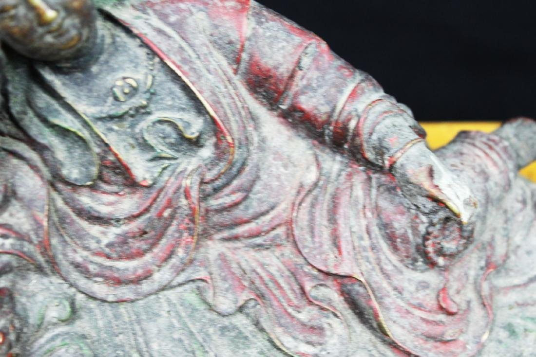 Antique Chinese Bronze Guanyin Statue - 4