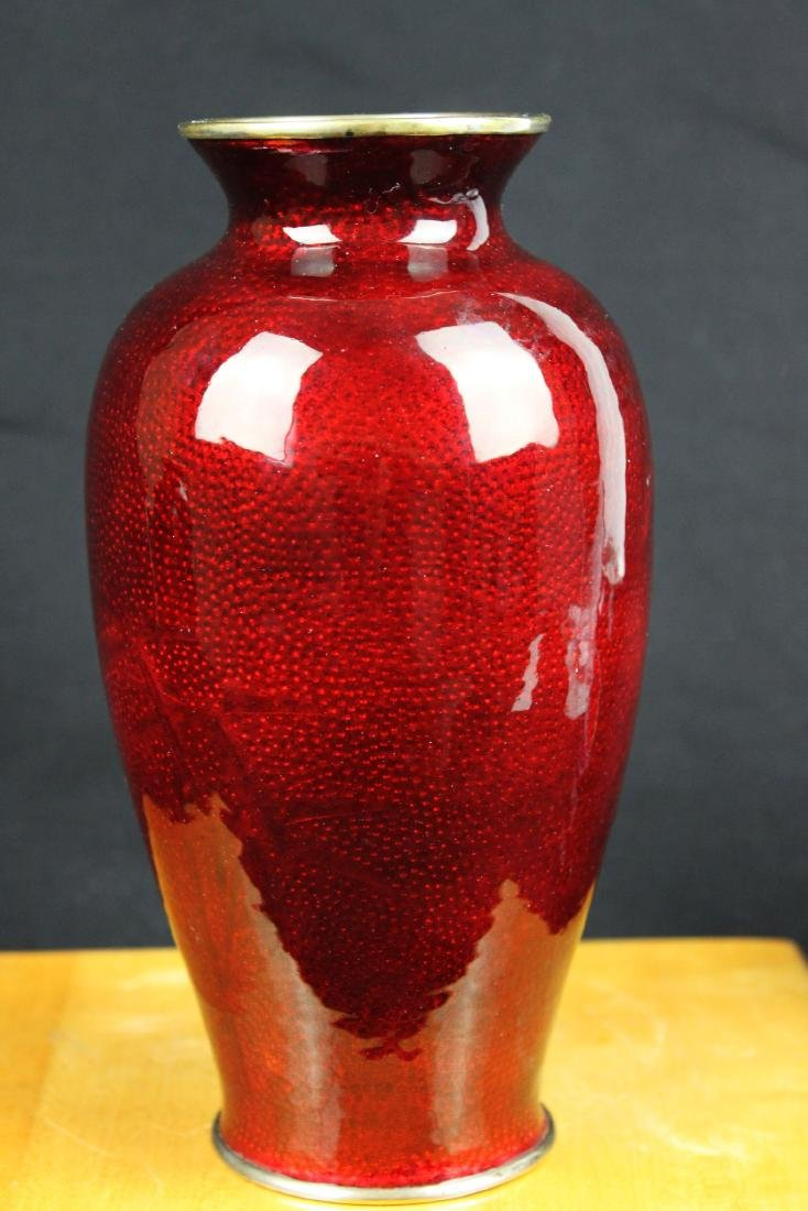 A Pair Chinese Red Junyao Glazed Vase - 2