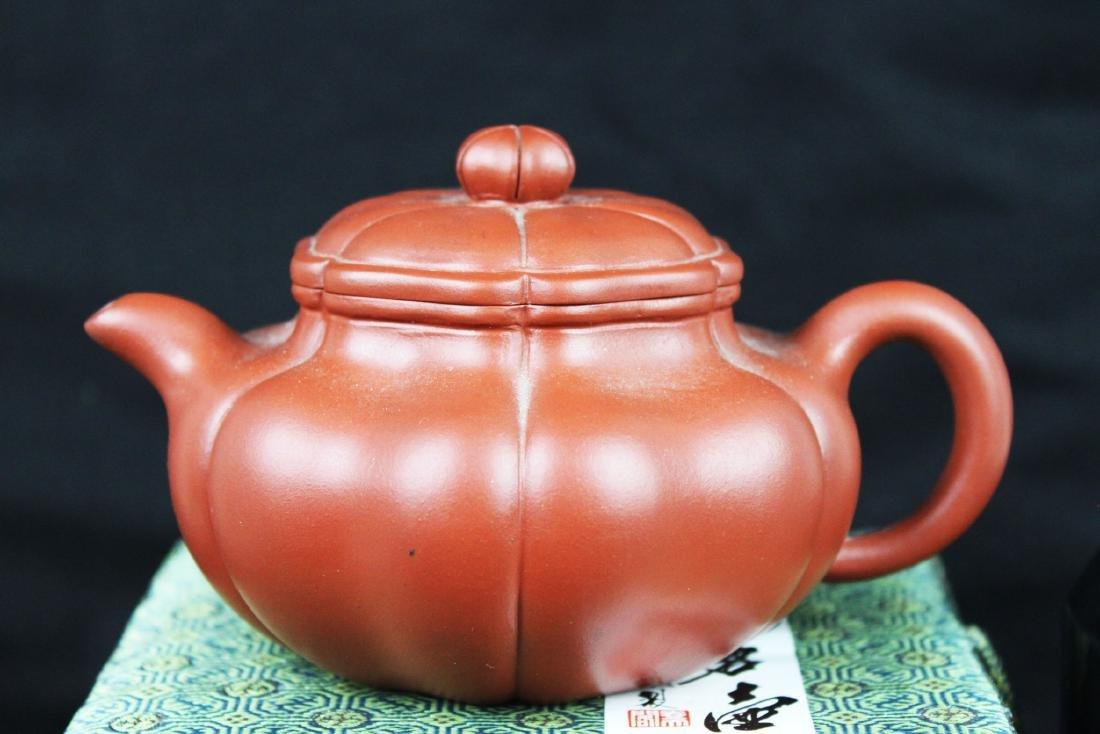 Chinese Yixing Zisha Tea Pot w/ wood stand