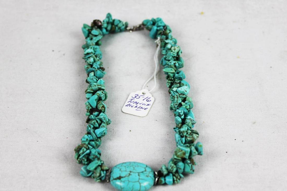 Natural Turquoise Necklace - 6