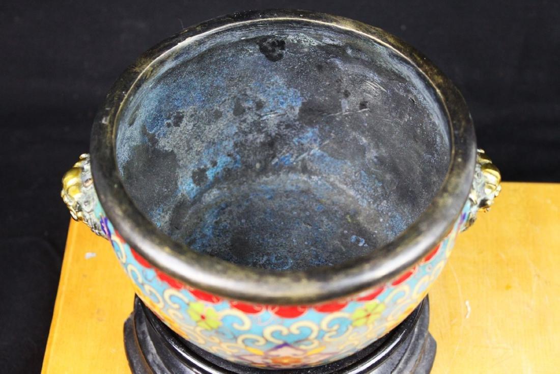 Antique Chinese Cloisonne Bowl - 2