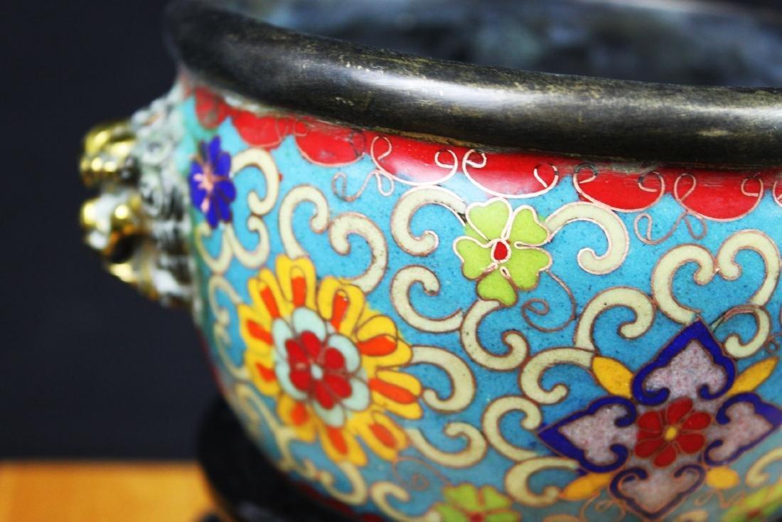 Antique Chinese Cloisonne Bowl - 3