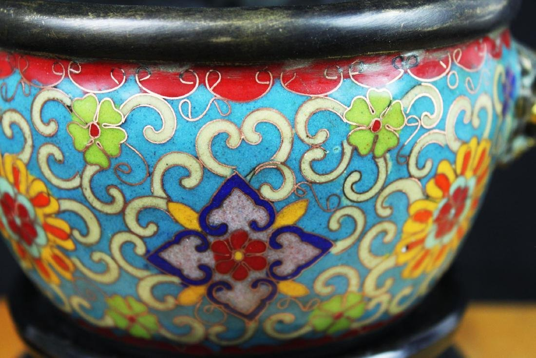 Antique Chinese Cloisonne Bowl - 4