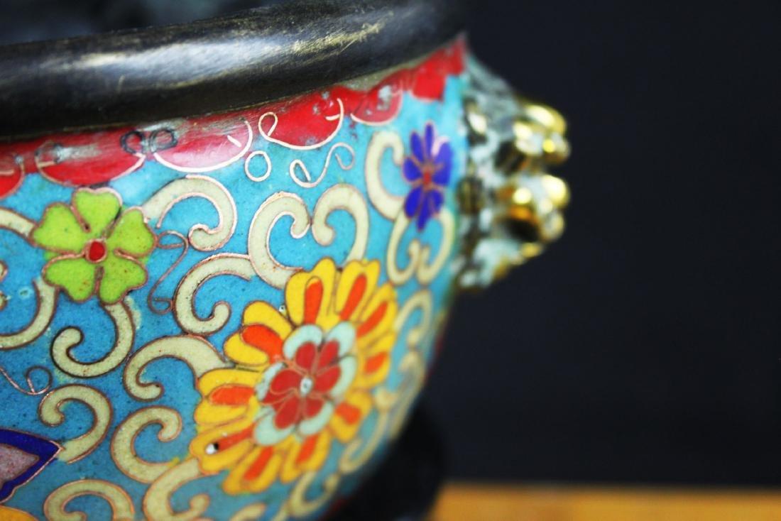 Antique Chinese Cloisonne Bowl - 5