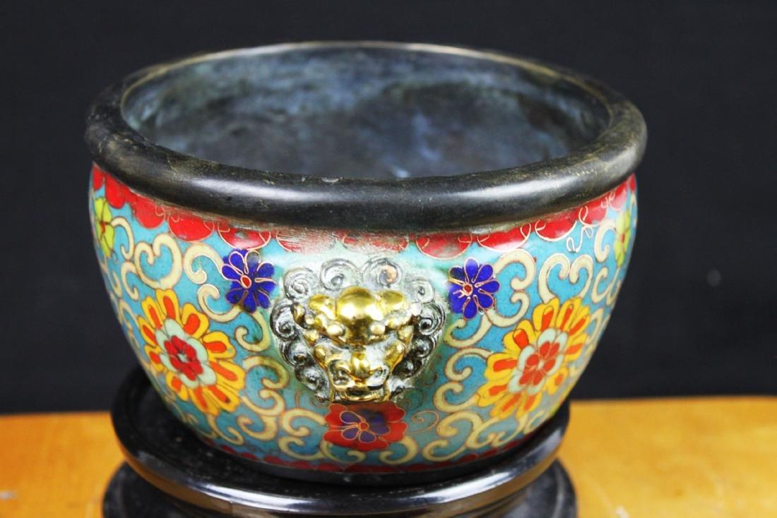 Antique Chinese Cloisonne Bowl - 6