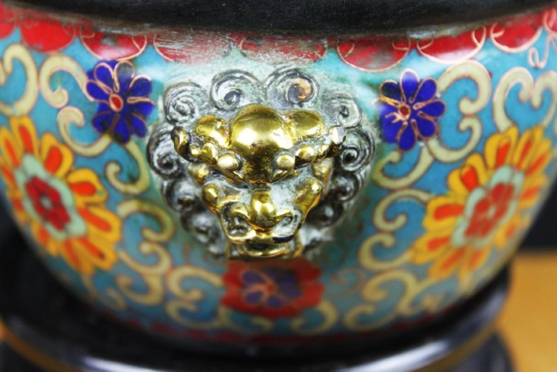 Antique Chinese Cloisonne Bowl - 7