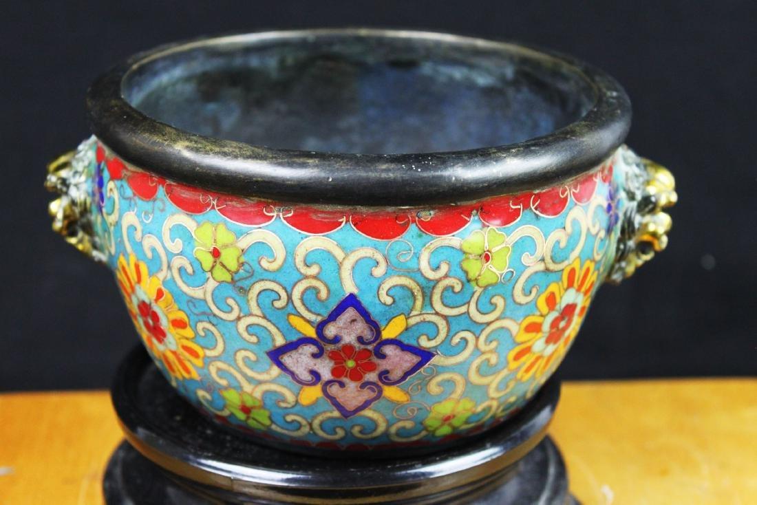 Antique Chinese Cloisonne Bowl - 8