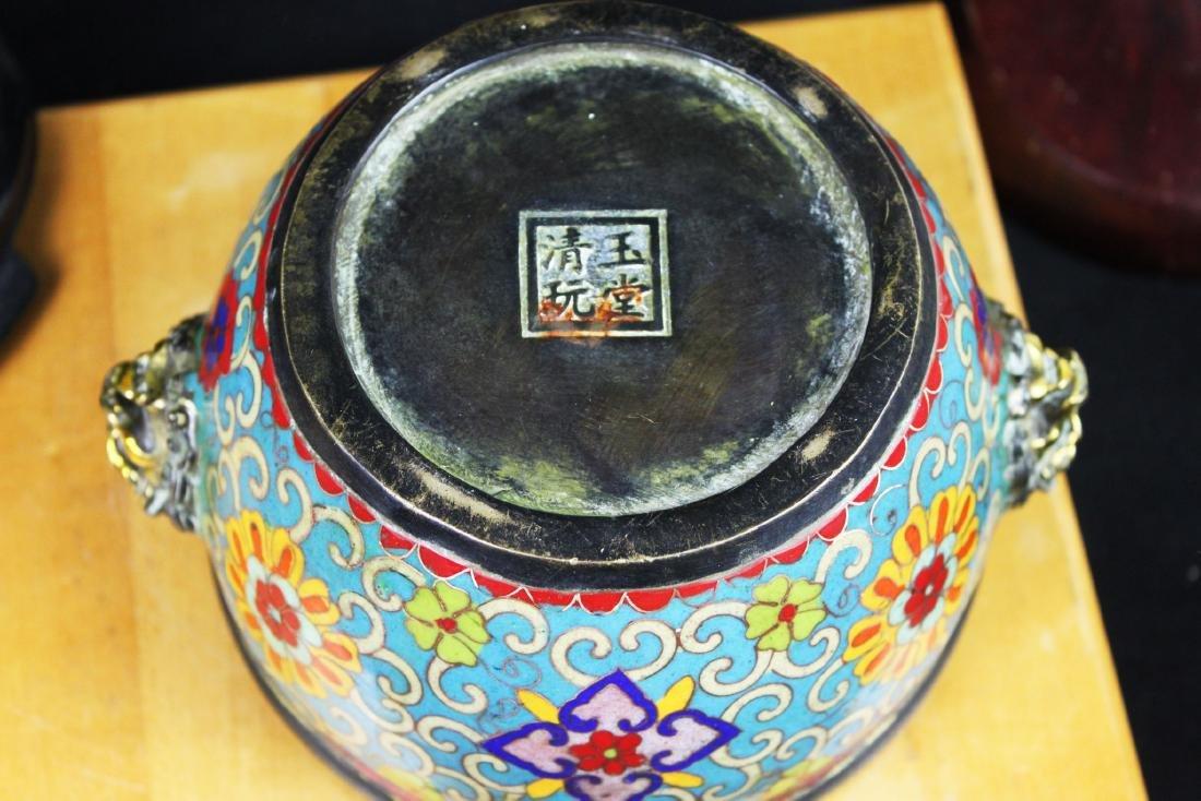 Antique Chinese Cloisonne Bowl - 9