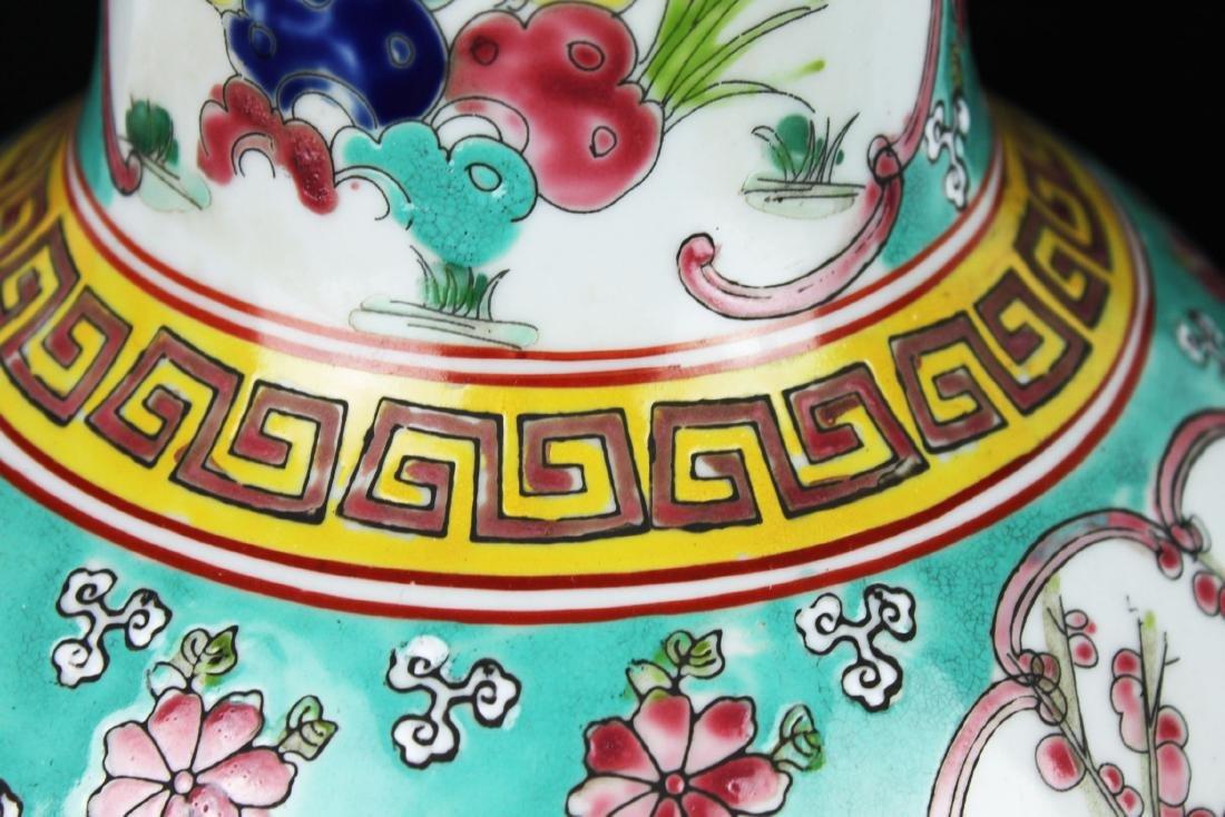 Antique Chinese Famillie Rose Porcelain Vase - 10