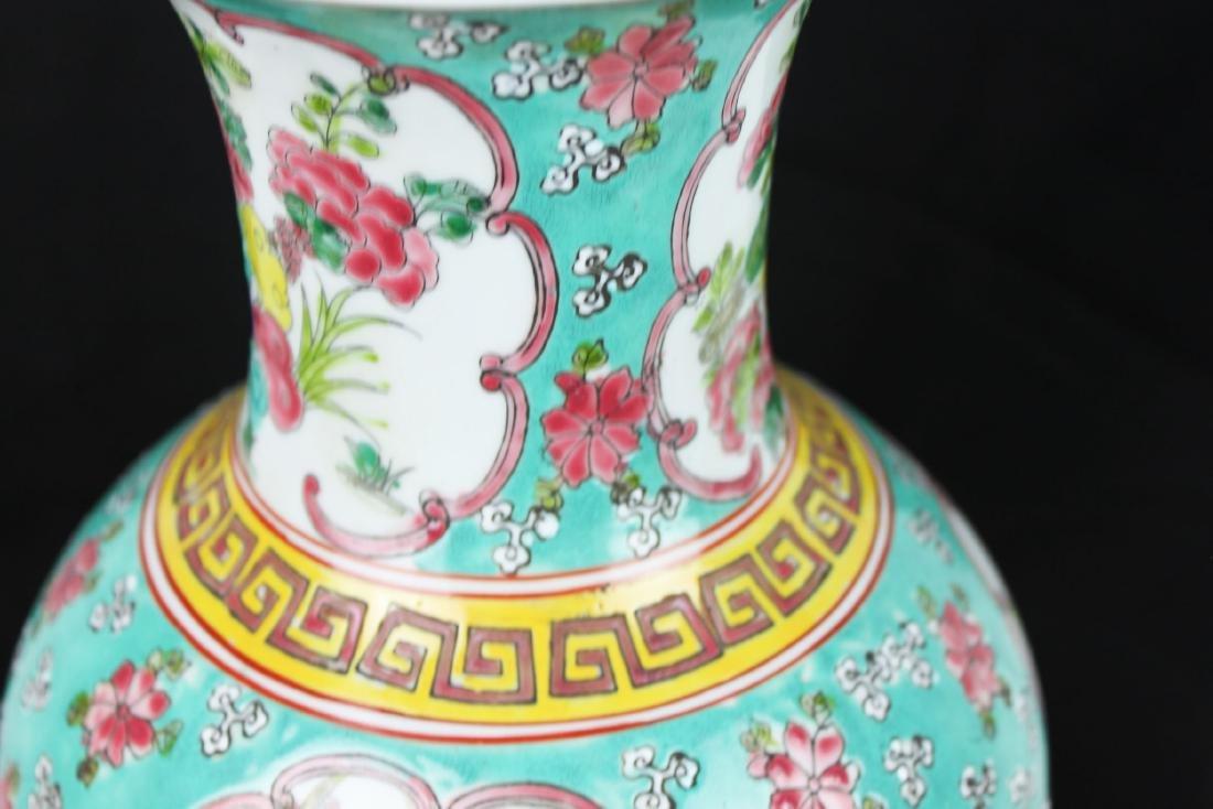 Antique Chinese Famillie Rose Porcelain Vase - 3
