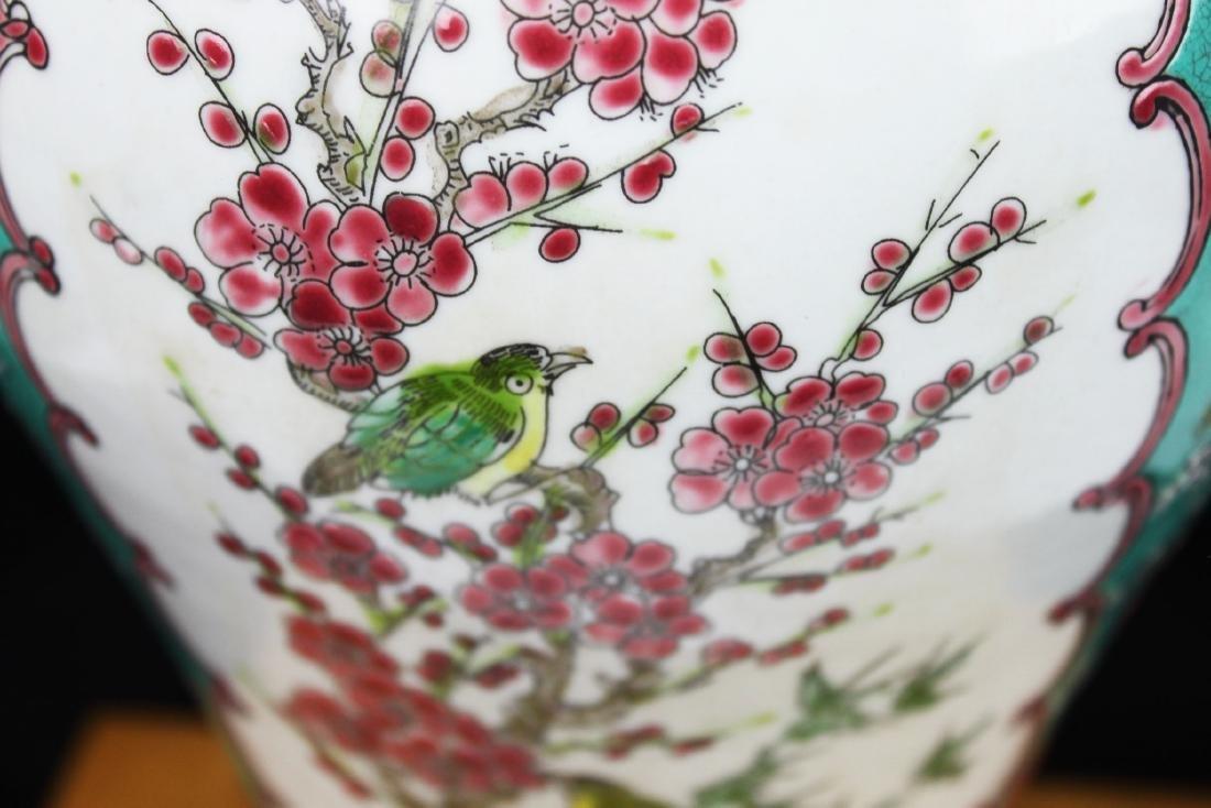 Antique Chinese Famillie Rose Porcelain Vase - 5