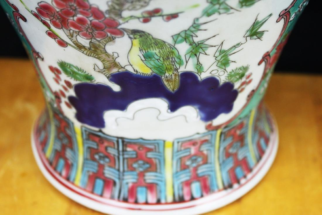 Antique Chinese Famillie Rose Porcelain Vase - 6