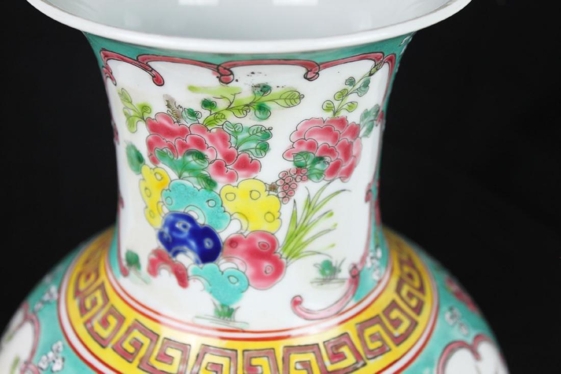 Antique Chinese Famillie Rose Porcelain Vase - 9