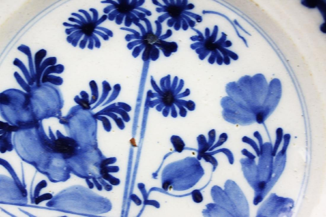 Antique Chinese Blue&white Porcelain Plate - 4