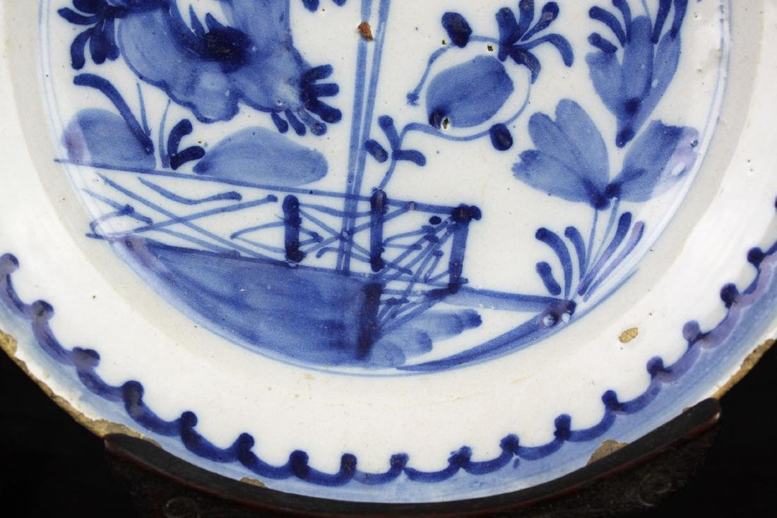 Antique Chinese Blue&white Porcelain Plate - 6