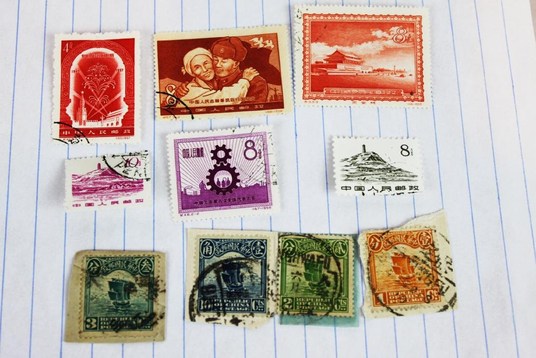 10 Chinese Stamps