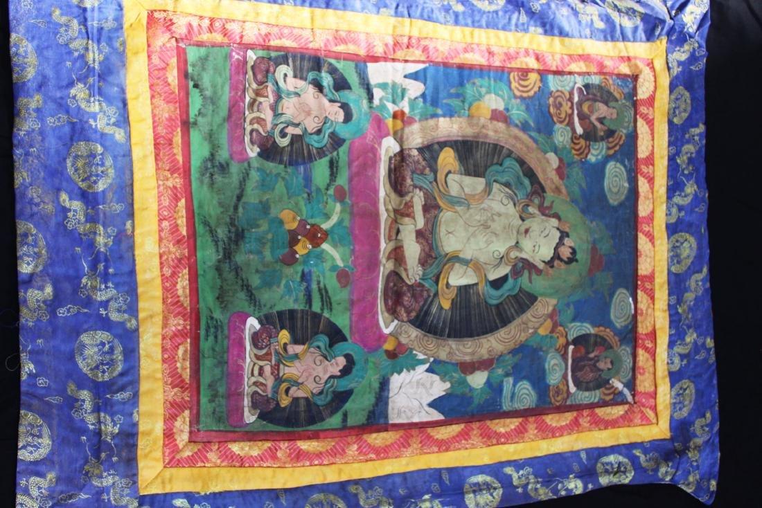 Antique Tibetan Silk Tangka