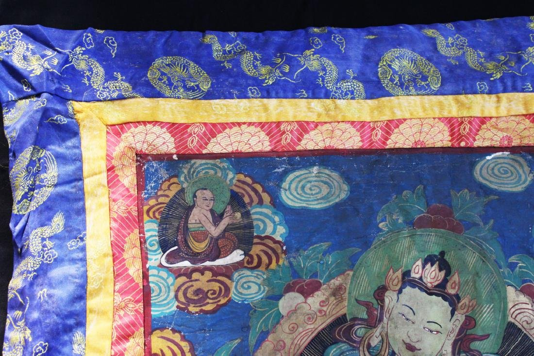 Antique Tibetan Silk Tangka - 2