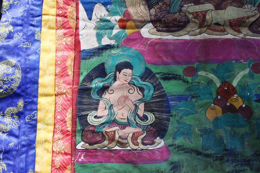 Antique Tibetan Silk Tangka - 5