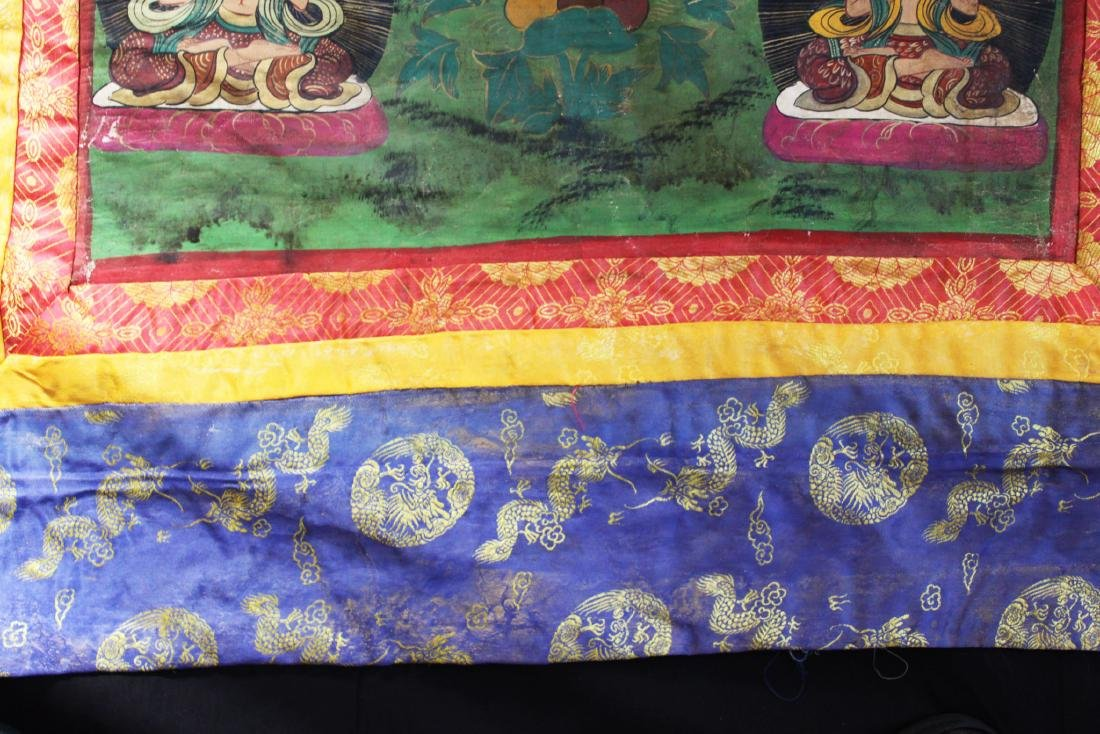 Antique Tibetan Silk Tangka - 7