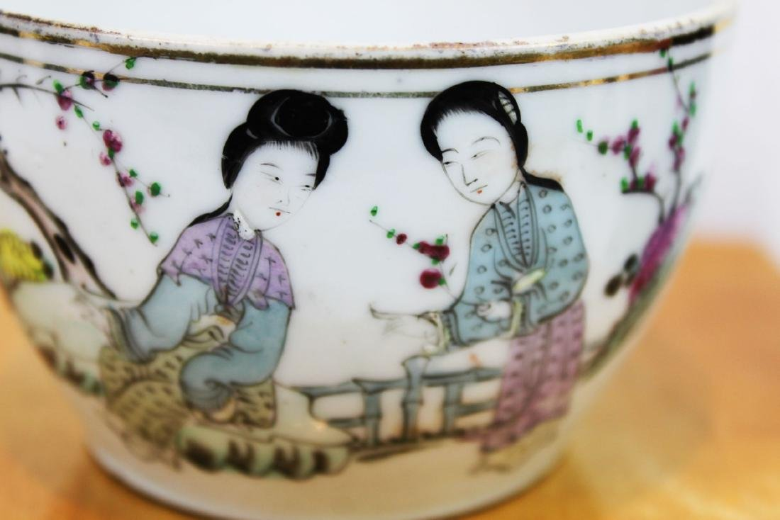 Antique Chinese Porcelain Cup 1800s' by Yongfa Luo - 2